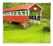 Barron's Covered Bridge Fleece Blanket