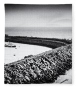 Barry Island Breakwater Film Noir Fleece Blanket