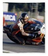 Barry Sheene. 1978 Nations Motorcycle Grand Prix Fleece Blanket