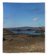 Bartolome Island Panorama Fleece Blanket