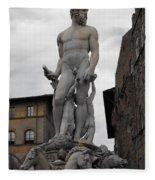 Bartolomeo's Neptune Fountain 2 Fleece Blanket