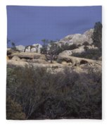 Base Camp - White Ledge Plateau - San Rafael Wilderness Fleece Blanket