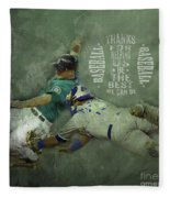 Baseball 01 Fleece Blanket