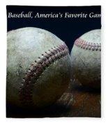 Baseball Americas Favorite Game Fleece Blanket