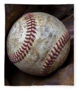 Baseball Close Up Fleece Blanket