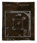 Baseball Game Patent Fleece Blanket