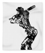 Baseball Player Fleece Blanket