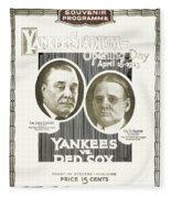 Baseball Program, 1923 Fleece Blanket