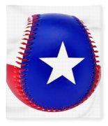 Baseball Star Fleece Blanket