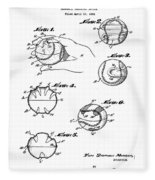 Baseball Training Device Patent 1961 Fleece Blanket