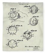 Baseball Training Device Patent 1961 Weathered Fleece Blanket