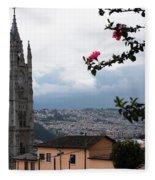 Basilica Del Voto Nacional Fleece Blanket