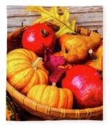 Basket Full Of Autumn Fleece Blanket