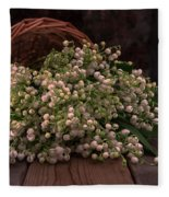 Basket Of Fresh Lily Of The Valley Flowers Fleece Blanket