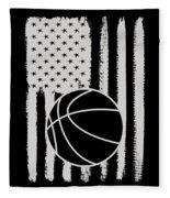 Basketball American Flag Usa Apparel Fleece Blanket