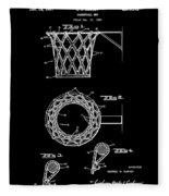 Basketball Net Patent 1951 In Black Fleece Blanket