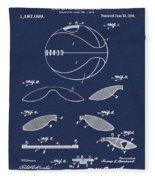 Basketball Patent 1916 Blue Fleece Blanket