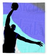 Basketball Poster Fleece Blanket