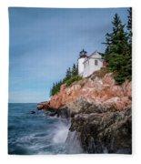 Bass Harbor Head Lighthouse Fleece Blanket