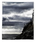 Bass Harbor Lighthouse In Acadia Np Fleece Blanket