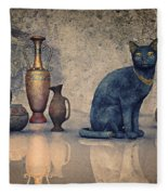 Bastet And Pottery Fleece Blanket