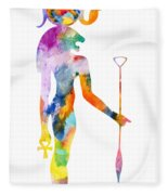 Bastet- God Of Ancient Egypt Fleece Blanket