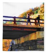 Bastion Falls Bridge 1 Fleece Blanket