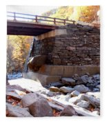 Bastion Falls Bridge 4 Fleece Blanket