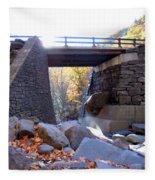 Bastion Falls Bridge 5 Fleece Blanket