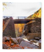Bastion Falls Bridge 6 Fleece Blanket