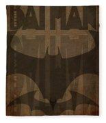 Bat Brown  Fleece Blanket