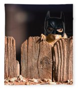 Bat Squirrel  The Cape Crusader Known For Putting Away Nuts.  Fleece Blanket
