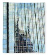 Bat Tower Reflected Fleece Blanket