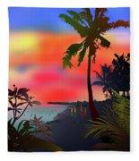 Echo Beach, Bali Fleece Blanket