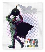 Batfleck And The Bomb 2 Fleece Blanket