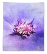 Bathed In Purple Fleece Blanket