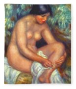 Bather Wiping A Wound 1909 Fleece Blanket