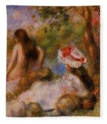 Bathers 1894 Fleece Blanket