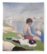 Bathers At Asnieres Fleece Blanket