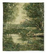 Bathers. Woodland Fleece Blanket