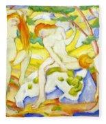 Bathing Girls 1910 Fleece Blanket