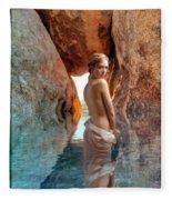 Bathing Maiden Fleece Blanket