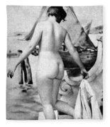 Bathing Nude, 1902 Fleece Blanket