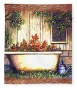 Bathtub Garden Fleece Blanket