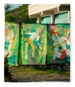 Batik Studio At Coba Village Fleece Blanket