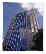 Batman Building In Down Town Nashville Fleece Blanket
