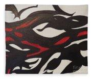 Bats And Eyes Fleece Blanket