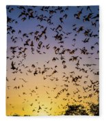 Bats At Bracken Cave Fleece Blanket