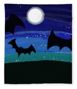 Bats At Night Fleece Blanket