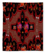 Bats In The Dark Fleece Blanket